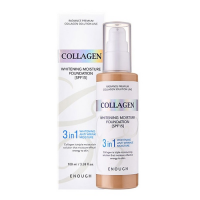 Корейский тональный крем Enough Collagen Whitening Moisture Foundation 3 IN 1 SPF 15