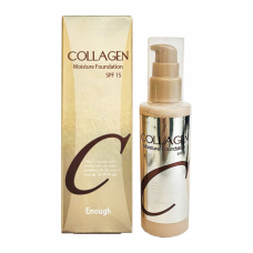 Корейская тональная основа c частичками золота и  коллагена Enough Collagen Moisture Foundation