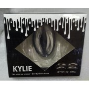 Набор для бровей Kylie Two eyebrow shapes + 2in1 Eyebrow brush